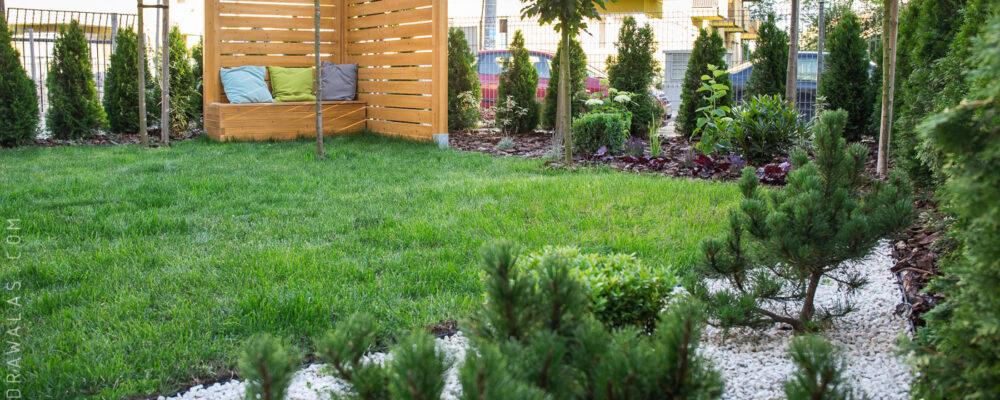 Ogród przy mieszkaniu – ogród za parawanem